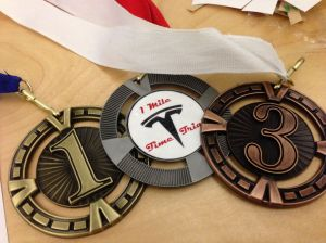 Tesla 1 Mile Time Trial Medals