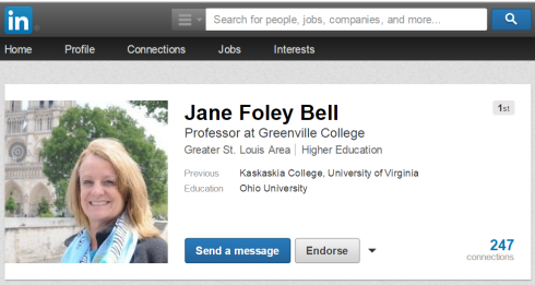 Jane Bell LinkedIn Profile